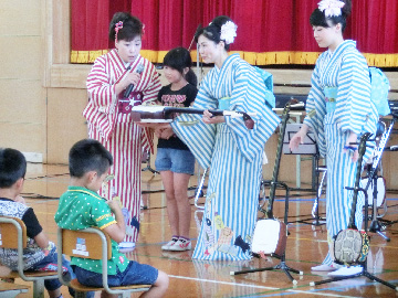 スクールコンサート in 対馬市立金田小学校
