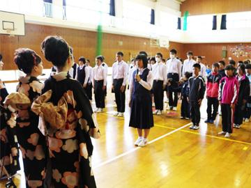 スクールコンサート in 対馬市立大船越小中学校