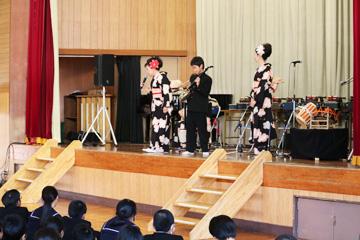 スクールコンサート in 宮崎市立宮崎西中学校