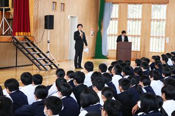 スクールコンサート in 小林市立三松中学校