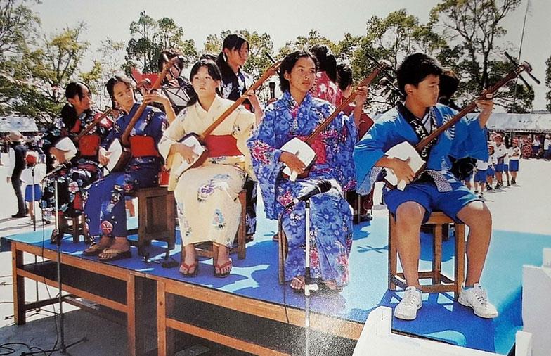 運動会の様子。写真中央が池田さんです。