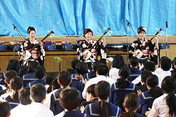 スクールコンサート in 宮崎市立生目南中学校